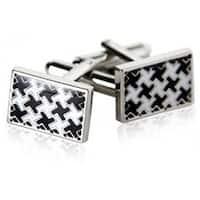 Houndstooth Silver Cufflinks