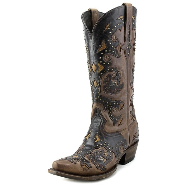 Lucchese Fiona Women Pointed Toe Leather Brown Western Boot
