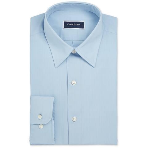 Club Room Mens Dress Shirts Blue Size XL Regular-Fit Long-Sleeve