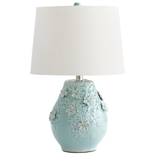 Cyan Design 5299 Eire 1 Light Table Lamp with Flower Ceramic Base