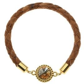 Saddle Brown Braided Cork Bangle - Exclusive Beadaholique Jewelry Kit