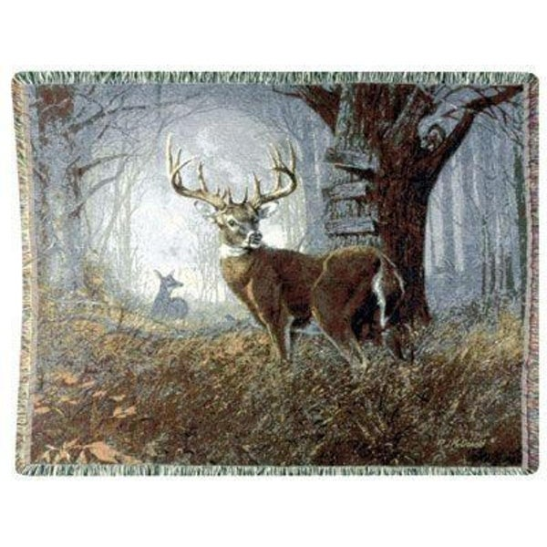 "Impending Challenge Deer Hunter Hunting Tapestry Throw Blanket 50"" x 70"""