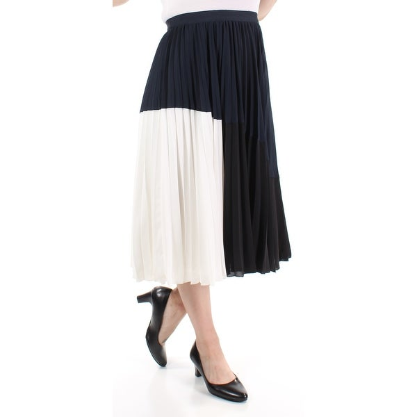 3bc5152543 Shop TOMMY HILFIGER $149 Womens New 1433 Color Block Accordion Pleat Skirt  4 B+B - Free Shipping On Orders Over $45 - Overstock - 21306475
