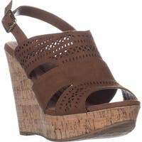 AR35 Mirranda Platform Wedge Sandals, Maple