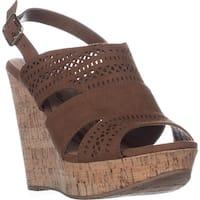AR35 Mirranda Platform Wedge Sandals, Maple