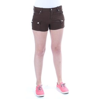 CELEBRITY PINK Womens New 1053 Brown Cropped Casual Short Juniors 5 B+B