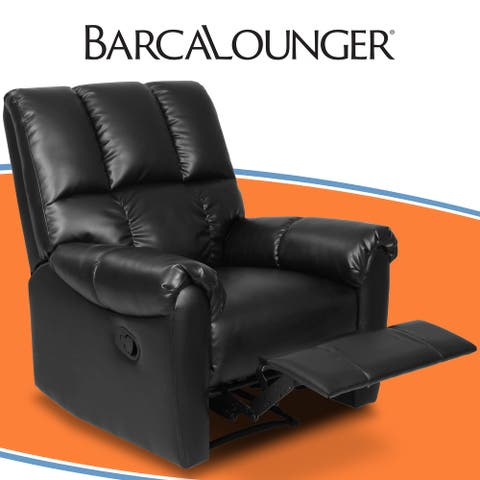 Barcalounger Bonded Leather Recliner Chair, Armchair, Black