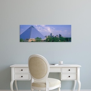 Easy Art Prints Panoramic Images's 'The Pyramid Memphis TN' Premium Canvas Art