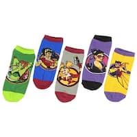 DC Comics Bombshell Female Characters No-Show Socks 5 Pair Harley Qyinn