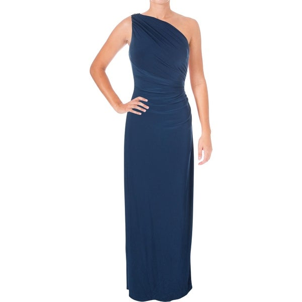 d7c7a6074185 Lauren Ralph Lauren Womens Evening Dress Embellished One-Shoulder