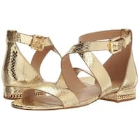 Michael Michael Kors Womens Sabrina Leather Open Toe Casual Ankle Strap Sandals