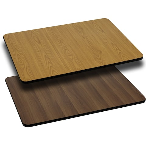 "30"" x 60"" Rectangular Table Top with Natural or Walnut Reversible Laminate Top"