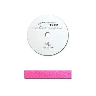 "AMC Glitter Tape 5/8"" Begonia