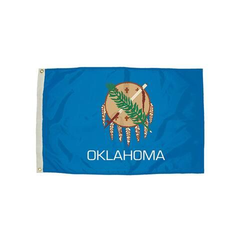 Independence flag 3x5 nylon oklahoma flag heading & 2352051