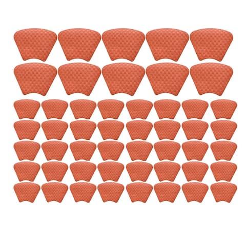 "Saleen Half-Round 16"" Placemat Restaurant Bundle (Capri Red Set of 50)"