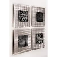 Statements2000 Black/Silver Metal Wall Art Accent Sculpture Decor by Jon Allen (Set of 4) - Freestyle