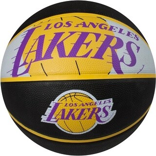 "Spalding SP-73069 NBA Los Angeles Lakers 29.5"" Outdoor Rubber Basketball"