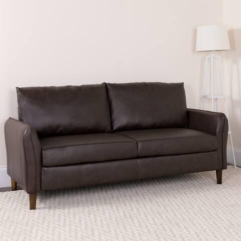 Upholstered Plush Pillow Back Sofa