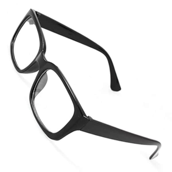 1bff1ef7a98 Shop Unique Bargains Men Women Black Arms Rectangle Frame Single Bridge  Plano Glasses Spectacles - Free Shipping On Orders Over  45 - Overstock -  17645315