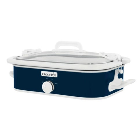 Crock-Pot SCCPCCM350-BL Casserole Crock Slow Cooker, Navy Blue