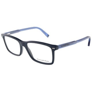 Ermenegildo Zegna EZ5008/V 090 Shiny Blue Rectangular Opticals