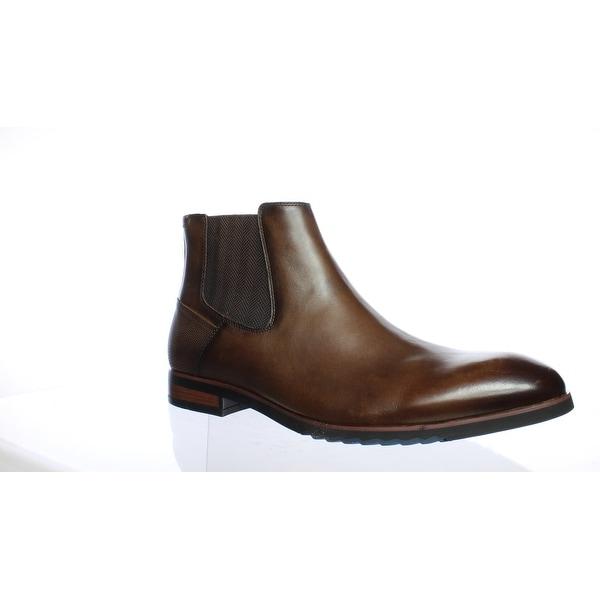 2c2d567e4 Shop Steve Madden Mens Leston Brown Leather Ankle Boots Size 12 ...