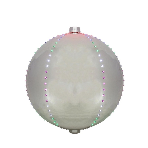 """12"""" Multi-Color LED Lighted Christmas Silver Sphere Ball Decoration"""