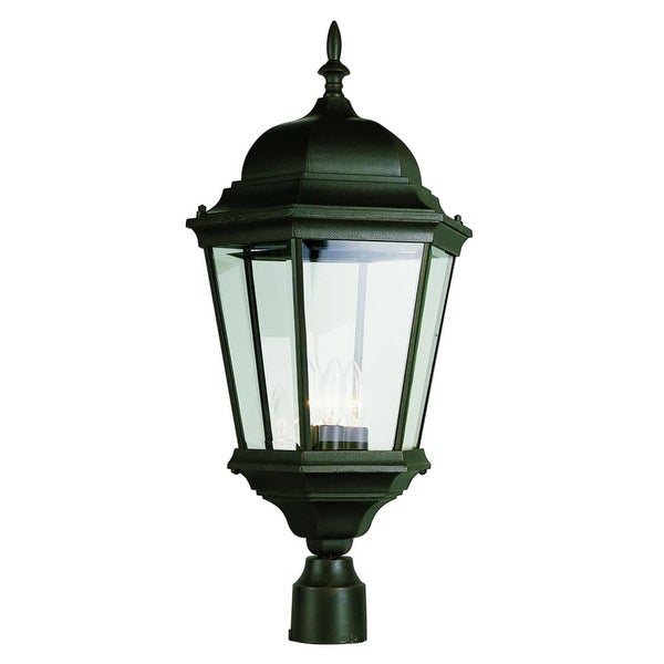 Trans Globe Lighting 51001 Three Light Up Lighting Outdoor Post Light from the Outdoor Collection