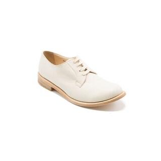 Brunello Cucinelli Women's White Leather Oxfords Size 38 / 8