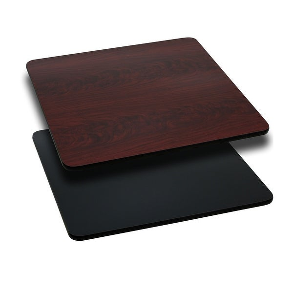 "36"" Square Table Top with Natural or Walnut Reversible Laminate Top"