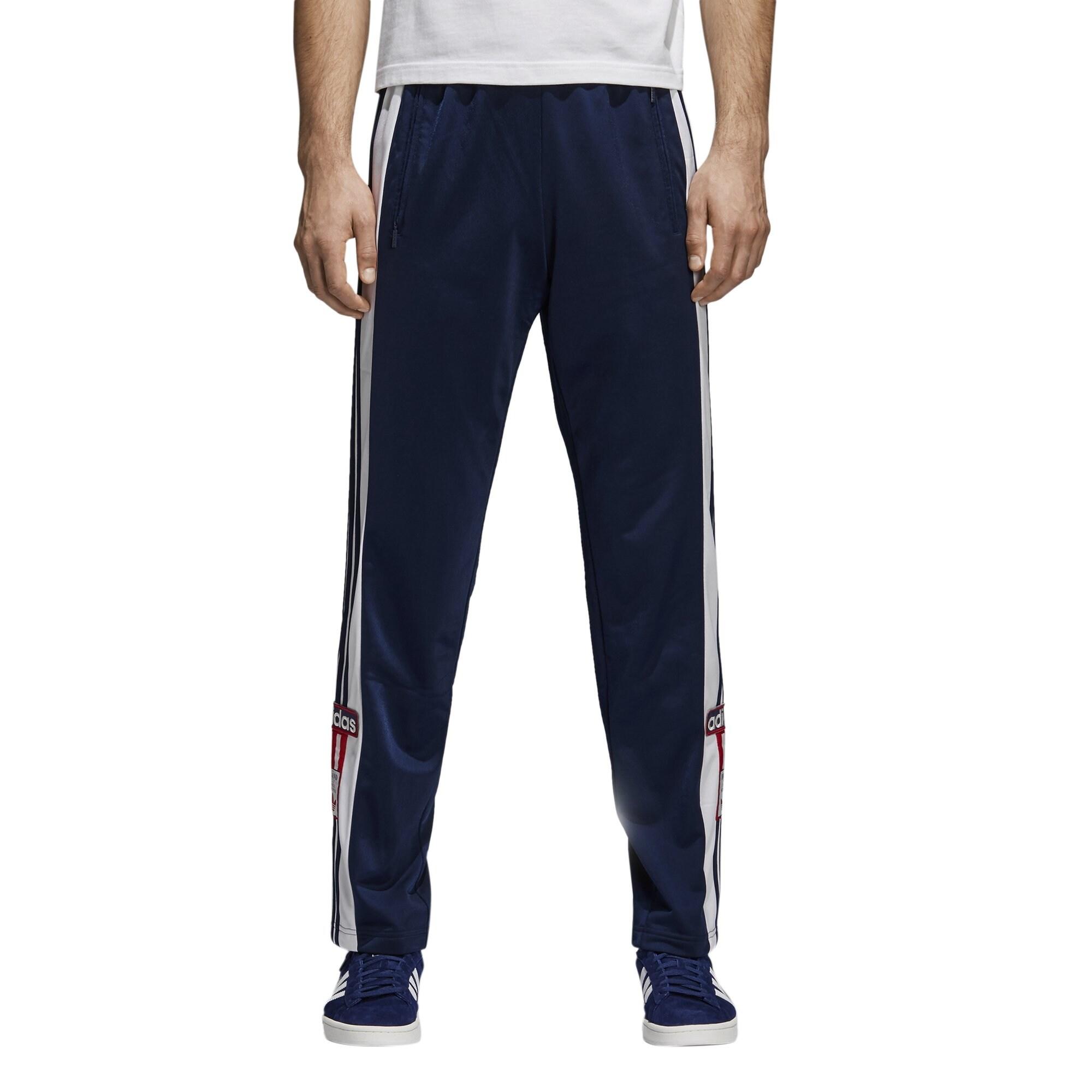 Adidas White Blue Mens Size XL Jogging Stretch Side Stripe Pants
