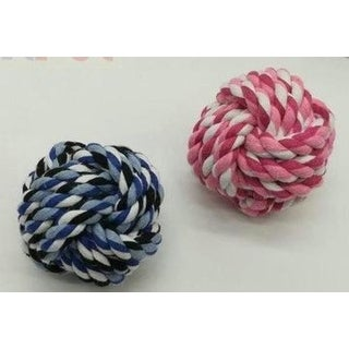 Colorful Balls Bone Knot Dog Ball for Aggressive Chewers
