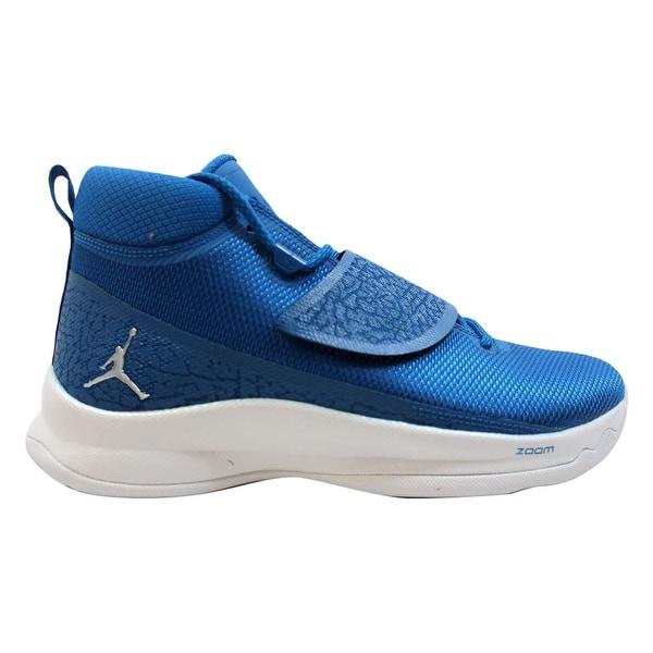 super popular 34742 e7214 Nike Air Jordan Super Fly 5 PO Team Royal Metallic Silver 881571-406 Men