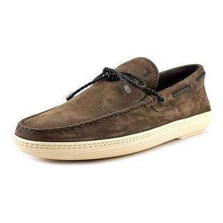 Tod's Laccet. ScoobyDoo Marlin Hyannisport Men A Square Toe Suede Brown Loafer