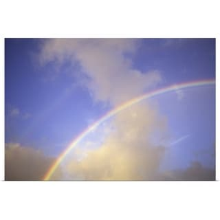 """""""Hawaii, Double rainbow arching through clouds and blue sky"""" Poster Print"""