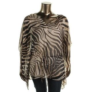 Lauren Ralph Lauren Womens Chiffon Printed Pullover Top - XS