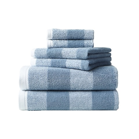 Nautica Oak Lake Cotton Blue 6 Piece Towel Set - 6 Piece