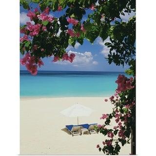 """""""Tropical beach"""" Poster Print"""