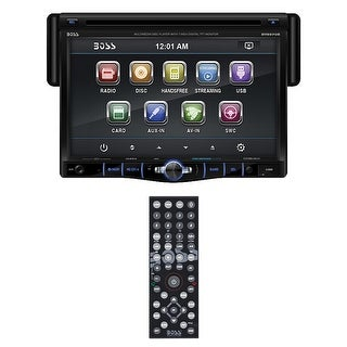 "Boss 7"" Single Din Receiver Bluetooth DVD/CD USB/SD Front Aux input"