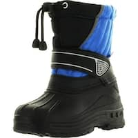 Static Kids Bhd-07 Waterproof Cold Weather Kids Snow Boots With Adjustable Feature