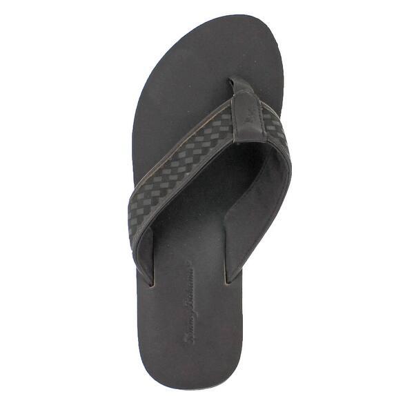 2335f855a Shop Tommy Bahama Waldon Men s Leather Flip Flop Sandals - Free ...
