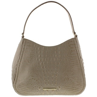 Brahmin Womens Melbourne Vada Hobo Handbag Textured Lined - ivory - MEDIUM