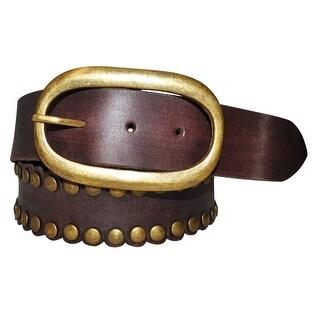 Cowgirls Rock Western Belt Womens Scalloped Brown 9618300