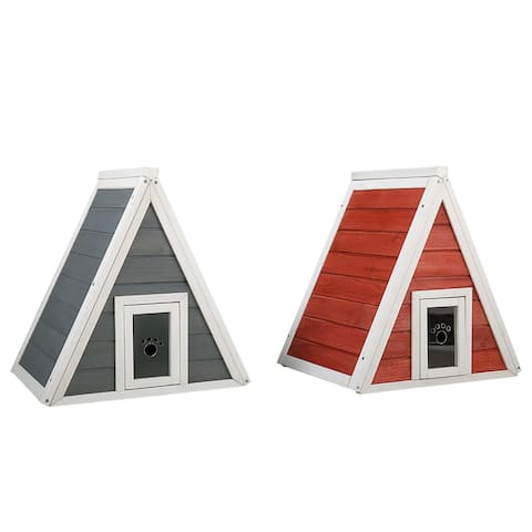 Wooden Kitty House Cat Shelter Pets House for Cats and Small Dogs