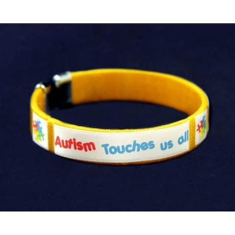 Autism ASD Touches Us Bangle Bracelet
