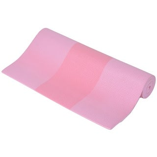 Gymnasium Fitness Exercise PVC Yoga Mat Pad Support Pink 6mm Thickness