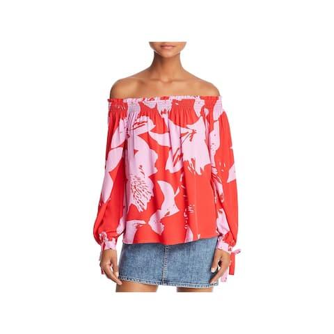 Bardot Womens Blouse Tie Sleeve Floral - 4