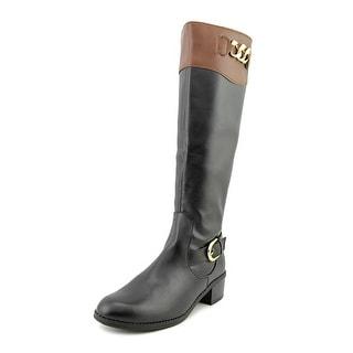 Karen Scott Darlaa Women  Round Toe Synthetic Black Knee High Boot