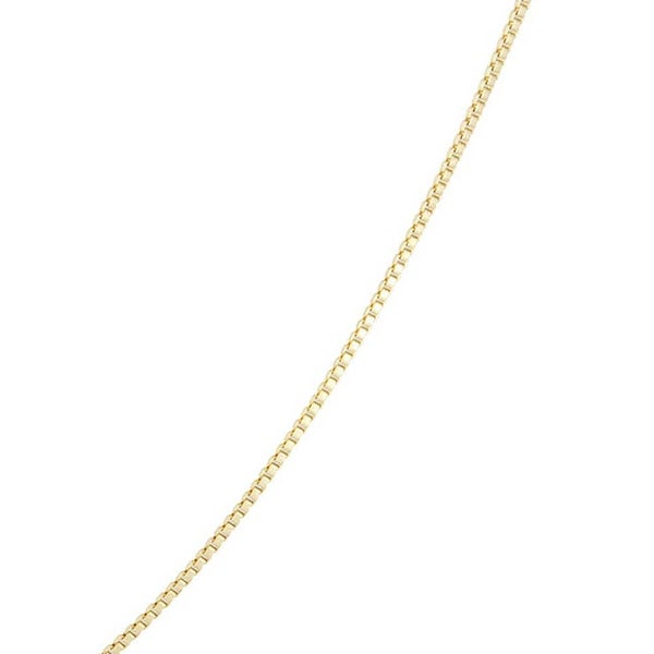14K Yellow Gold Filled Necklace 1mm Singapore chain Italian Gold Chain