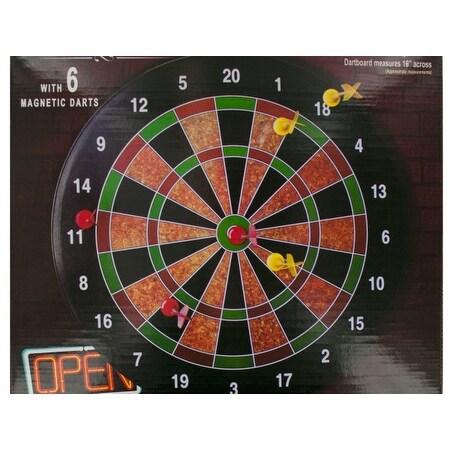 Shop Bulk Buys Os195 2 Magnetic Dartboard Game 2 Piece Free